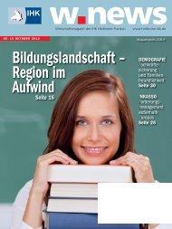 Bildungslandschaft Heilbronn-Franken | w.news 10.2012