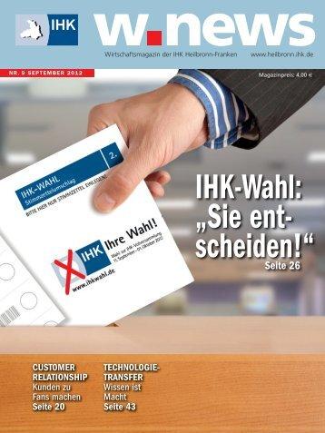 IHK-Wahl zur Vollversammlung | w.news 09.2012