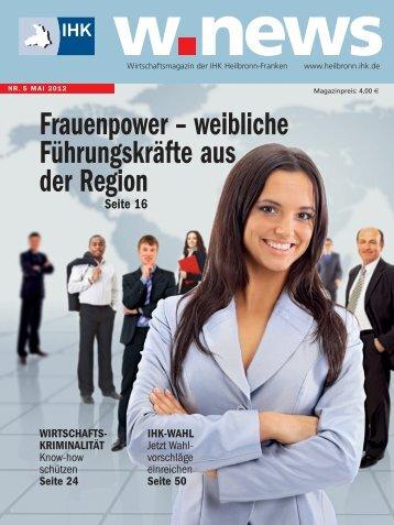Frauenpower - weibliche Führungskräfte | w.news 05.2012