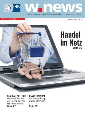 Online-Handel | w.news 04.2012