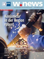 Konjunktur in der Region | w.news 03.2012