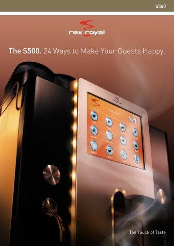 S500_Prospekt (9.32 MB) - HGZ Kaffeemaschinen
