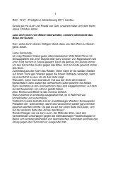 1 Röm. 12,21 - Predigt zur Jahreslosung 2011, Landau Gnade sei ...
