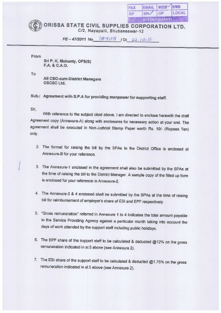 Draft Agreement Paper For Manpower Service Providing Agency