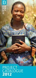 Project Catalogue 2012-2013 - Bible Society