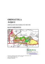 ORIMATTILA Artjärvi - Orimattilan Kaupunki