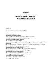 Richtlijn BEHANDELING VAN HET MAMMACARCINOOM - Oncoline