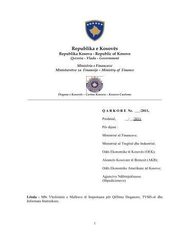 Republika e Kosovës - Dogana e Kosovës