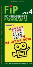Fichtelgebirgs-Programm - April 2014