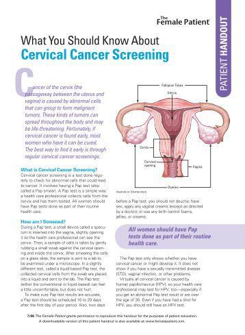 cervical cancer fact sheet pdf