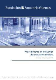 Procedimiento de evaluación del contrato financiero. - Fundación ...