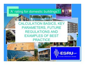 'A' rating for domestic buildings? - Scottish Energy Systems Group