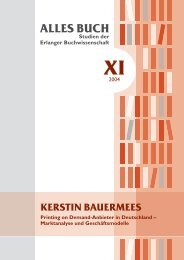 ALLES BUCH Studien der Erlanger Buchwissenschaft XI