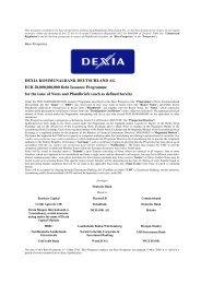 Basisprospekt DIP der Dexia Kommunalbank Deutschland 2010/2011