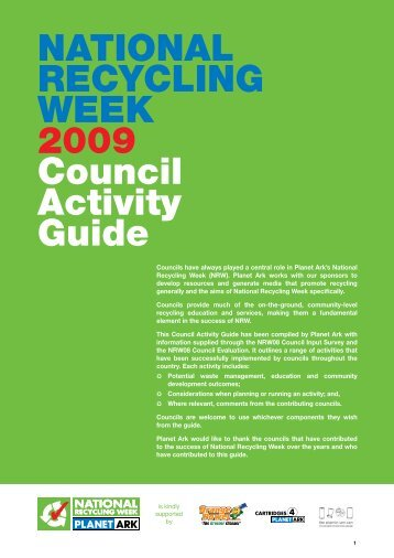 NatioNal RecycliNg Week 2009 council activity guide
