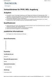 Verkaufstrainee für PKW, NDL Augsburg - Mercedes-Benz ...