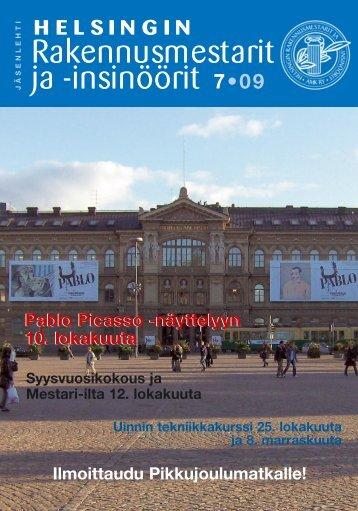 Yhdistyksen jäsenlehti 7 /09, PDF tiedosto - Helsingin ...