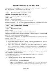 Regolamento - Fratelli Carli S.p.A.