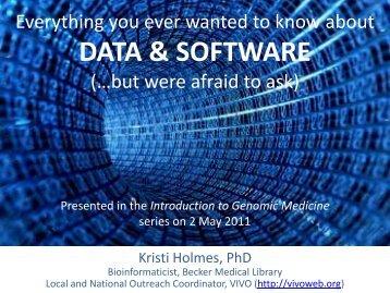 DATA & SOFTWARE - Bernard Becker Medical Library