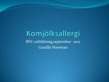 BVC-utbildning september 2012 Gunilla Norrman