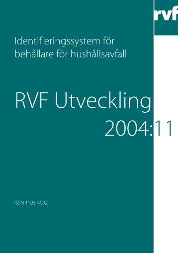 Identifieringssystem för behållare för hushållsavfall - Avfall Sverige
