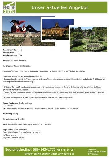 Casanova in Sanssouci - Eventreisen - Trierischer Volksfreund