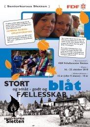 Invitation til Seniorkursus, Sletten - Leder - FDF