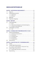 indholdsfortegnelse og sideeksempler - Marina Aagaard