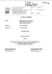 Decision on prosecution motion for testimony of witness RM ... - ICTY