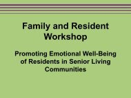 Family and Resident Workshop - SAMHSA Store