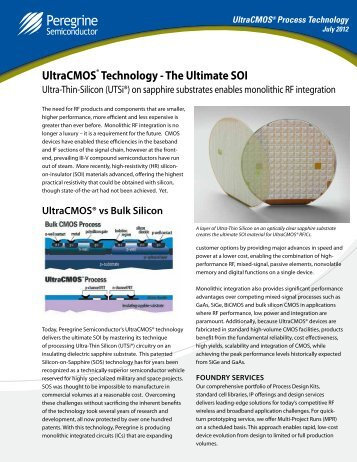 UltraCMOS® Technology - Peregrine Semiconductor