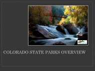 Colorado State Parks Overview - Colorado Division of Water ...