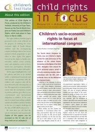 child rights - Children's Institute