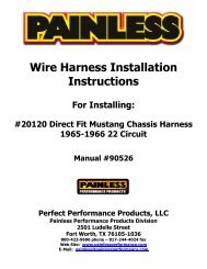 Wire Harness Installation Instructions For Installing - Painless Wiring
