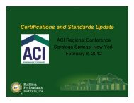 Certifications and Standards Update - ACI New York ENERGY ...