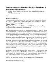 Benchmarking der Hersteller-Händler ... - Dietram Schneider