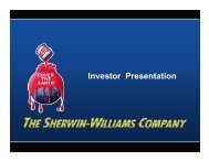 SHW Company Overview 1Q 2010 (Industry ... - Sherwin-Williams