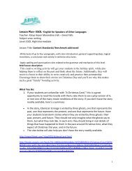 1 Lesson Plan- ESOL -English for Speakers of Other ... - NW LINCS