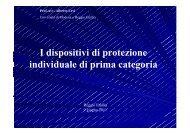 I dispositivi di protezione individuale di prima categoria - Camera di ...