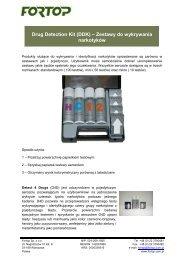 Drug Detection Kit (DDK) – Zestawy do wykrywania ... - Fortop