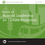 Survey on Mayoral Leadership on Climate Protection - U.S. ...