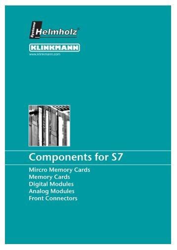 Components for S7 - Klinkmann.