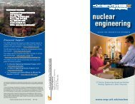 Nuclear Engineering Guide for Prospective Students - College of ...