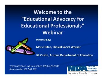 Educational Advocacy for Educational Professionals - Muscular ...