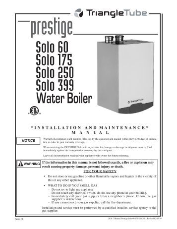 pictures of triangle tube boiler installation manual