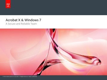 Acrobat X & Windows 7