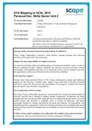 Personal Development Skills Senior Unit 2 (PDF 188 KB) - Scope