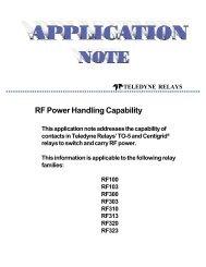 RF Power Handling Capability - Richardson RFPD