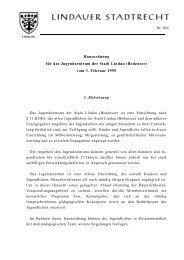 Hausordnung für das Jugendzentrum der Stadt Lindau (Bodensee ...