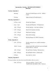 Opening Days Calendar - The Loomis Chaffee School